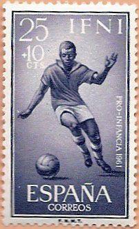 Sello Ifni de 25+10 céntimos, Pro Infancia, 1961 - Portal Fuenterrebollo