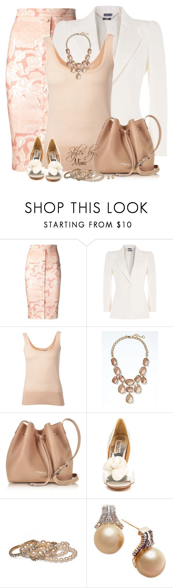 """""""Pink Blush (4.30.17)"""" by stylesbymimi ❤ liked on Polyvore featuring Altuzarra, Alexander McQueen, Michael Kors, Banana Republic, Lancaster, Badgley Mischka and Wet Seal"""