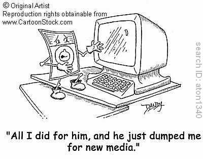 Napredak tehnologije - novi mediji - strip