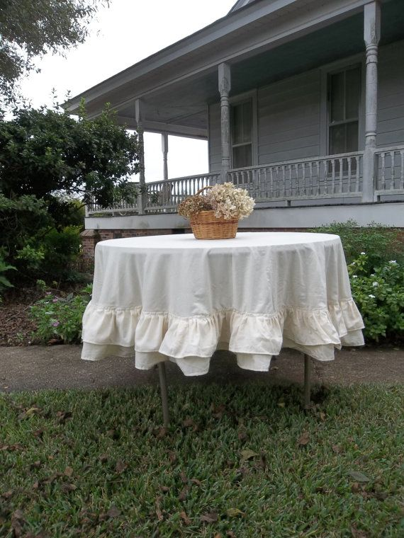 Multi Ruffle Tablecloth 72 Handmade Ruffled Tablecloth