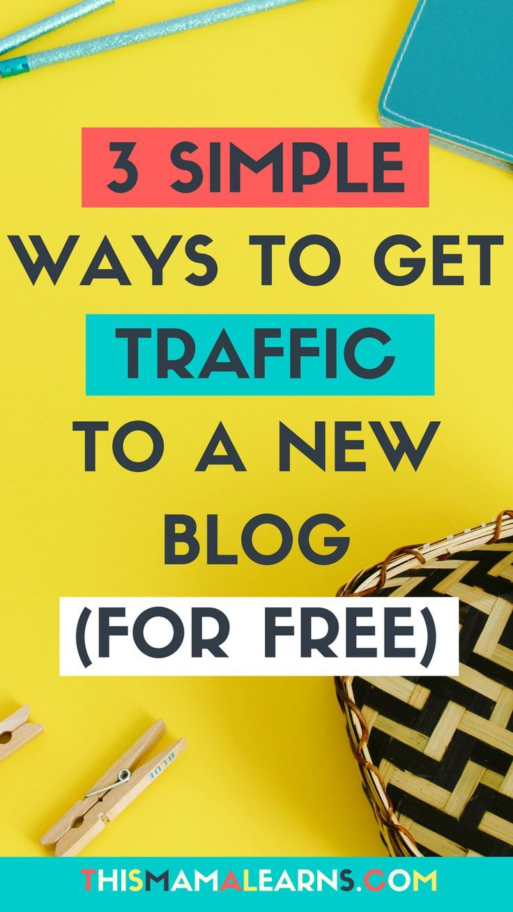 Blogging Tips || New Blog || Blog Traffic || It's the biggest challenge new bloggers face - how do you get consistent blog traffic??? I'm breaking it down here in the latest post on my three favorite ways even new bloggers can get traffic. No $ required. via @thismamalearns