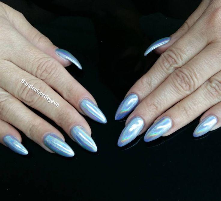 gel nails holomanix nails holografic nails