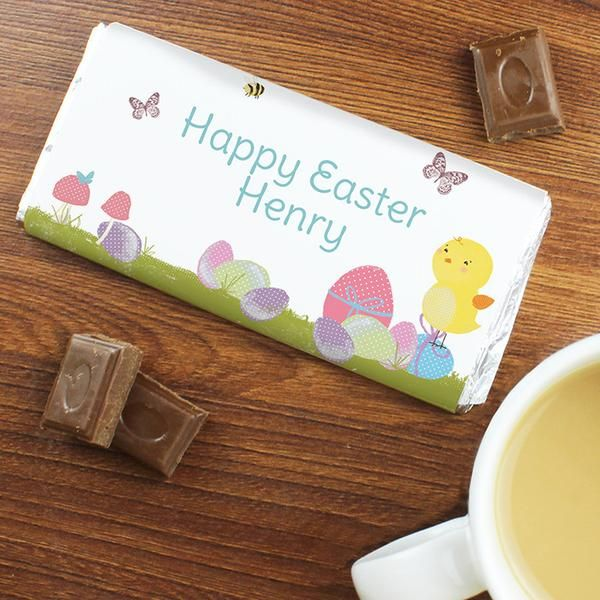 22 best easter images on pinterest easter gift personalised gifts personalised easter meadow chick milk chocolate bar the hut market personalised gift shop negle Choice Image