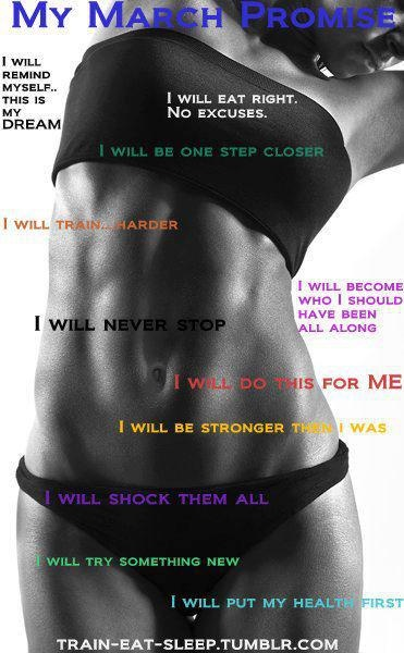 My March Promise: March Promise, Weight Loss, Fitness Inspiration, Healthy, Fitness Motivation, Weightloss, I Will, Workout