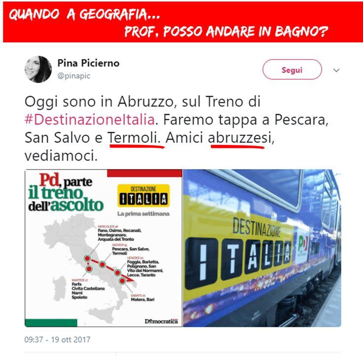 Quando ti prefiggi una #DestinazioneItalia ma non conosci nemmeno le regioni. #TrenoPD