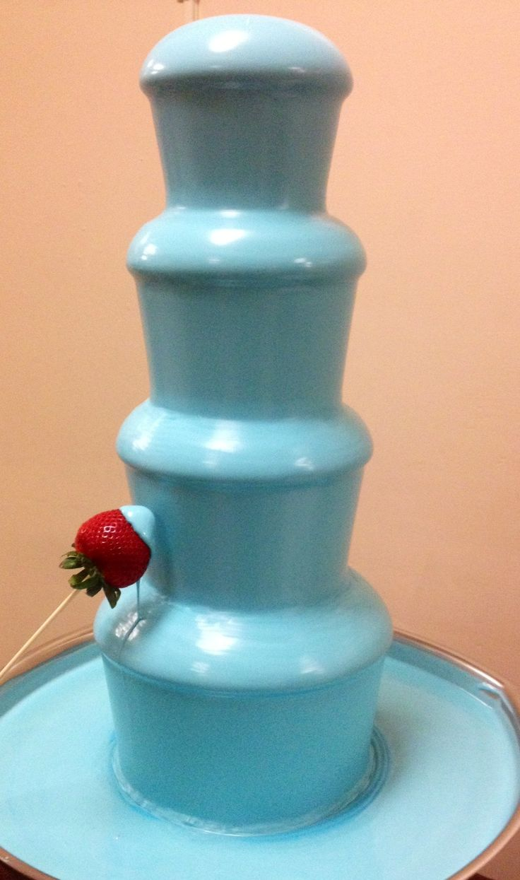 I have already died and gone to elsyium...........Chocolate Fountain: $29.99 Blue Chocolate Oil: $5.25 per bottle