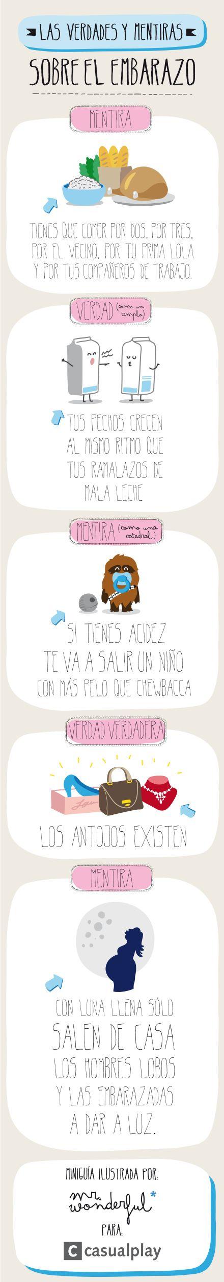 #Salud: verdades y mentiras del embarazo por nuestros amigos de Mr. Wonderful.  #Estética Médica Pentinel www.muymolon.com