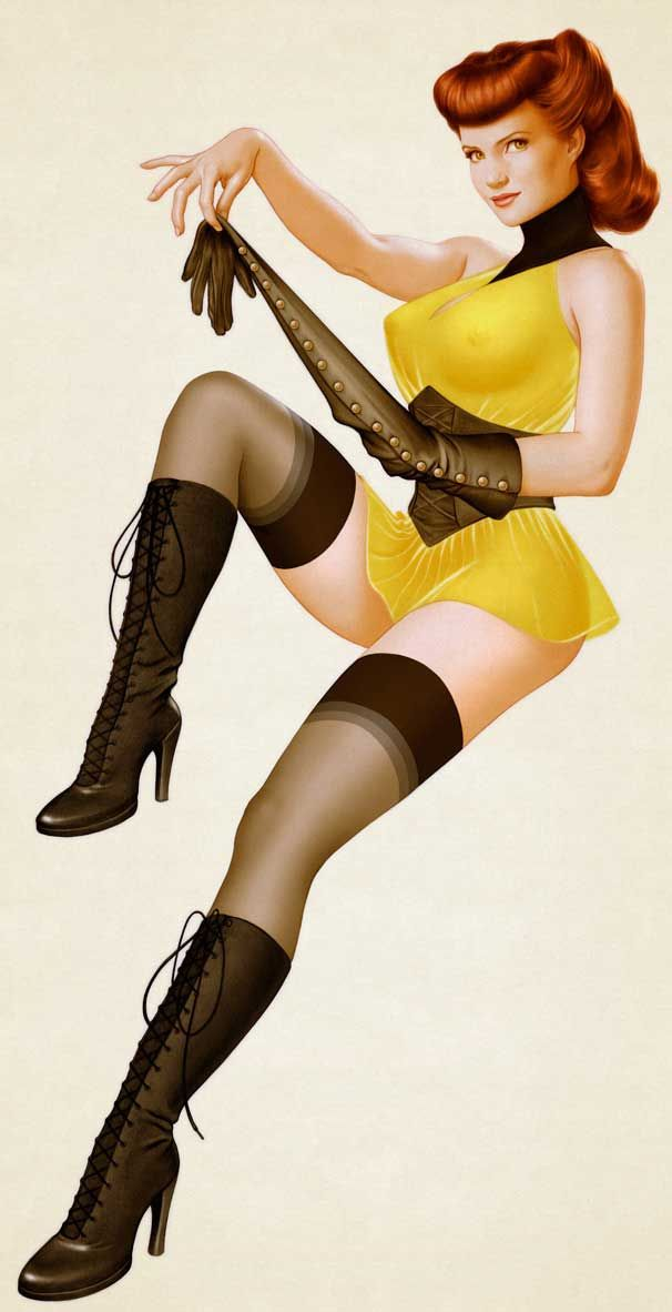 Vargas Pin Up Girl Art | Thanks to Aint It Cool News for the pic. Click here for more about ...