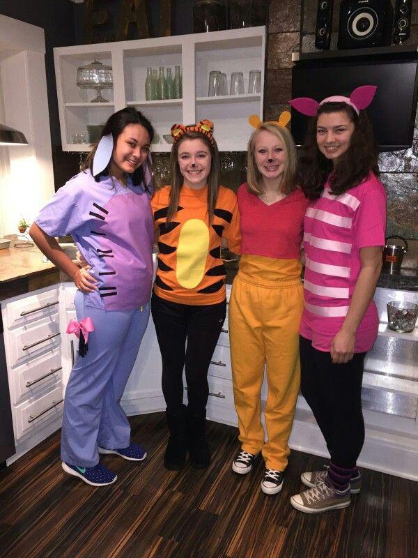 Eeyore, Tigger, Pooh, Piglet Halloween Costumes.