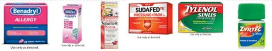 Save Here On Allergy Medicine! Benadryl, Zyrtec, Sudafed, & Tylenol Sinus!