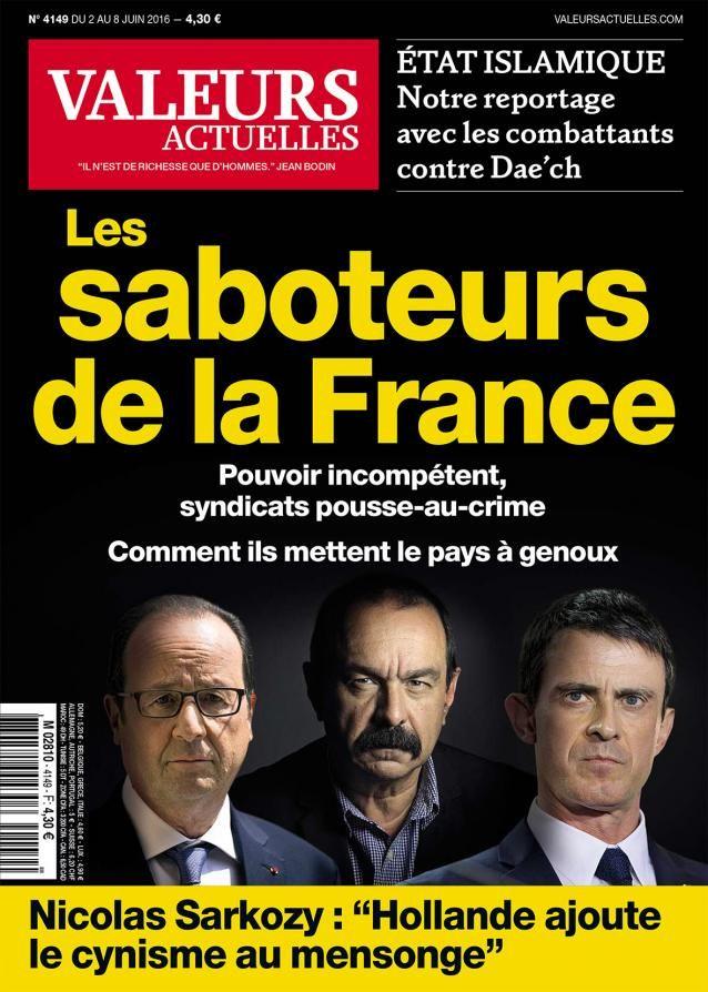 La magazine «Valeurs actuelles» ose dire les choses ! En effet, à la lumière du désastreux quinquennat de Hollande et de sa clique, contrairement à ce que prétendent les Mac…