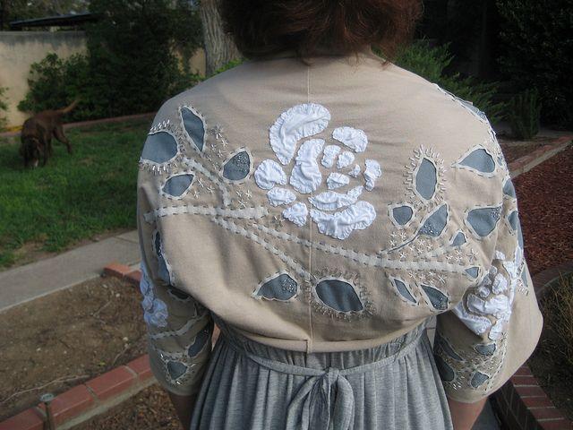 .....alabama chanin,her embroidery work is amazing!!!jacket