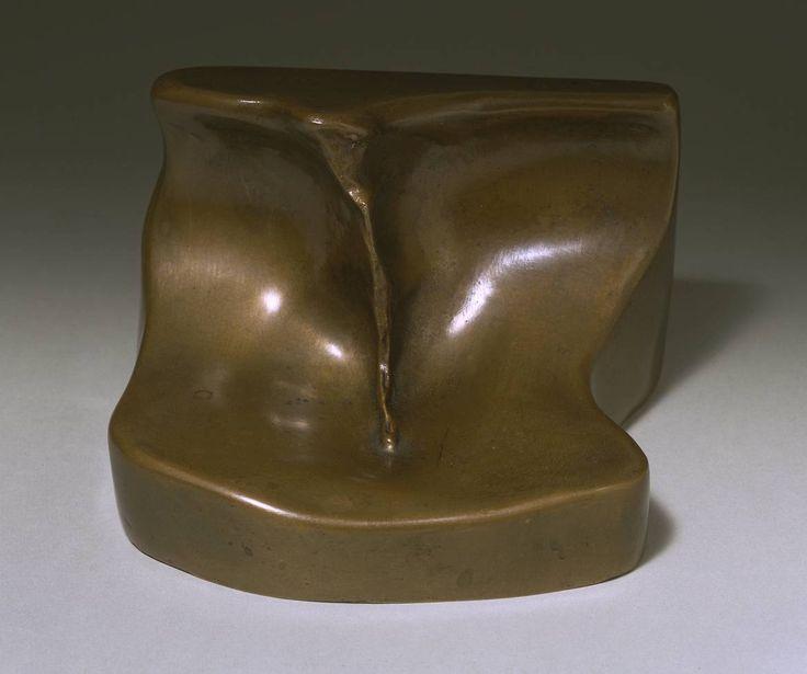 3 'erotic objects' by Marcel Duchamp: Female Fig Leaf/Feuille de vigne femelle, 1950, cast 1961 - bronze (Tate)
