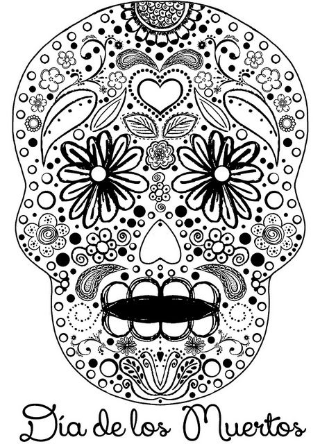 Sugar Skull Coloring Book Day Of The Dead Coloring book with extra pages flowers animals mandala