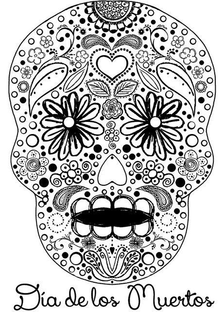 Sexy sugar skull coloring pages free recent photos the for El dia de los muertos coloring pages