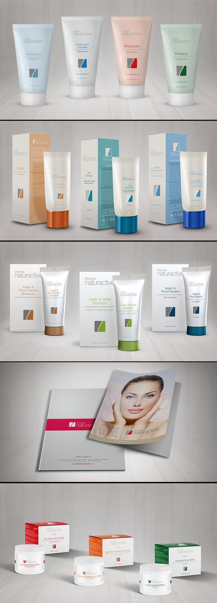 #pharma #naturactive #box #cosmetic #cream #concept #design
