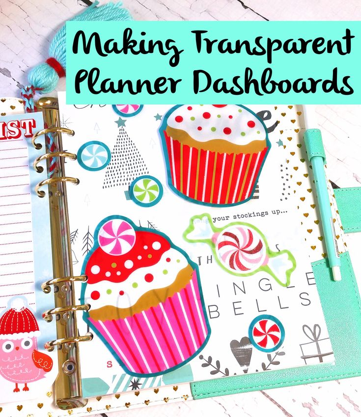 I recently shared a photo on Instagram of a transparent planner dashboard that I created as part of my Christmas set up. I offered to film a quick tutorial showing how you can easily create your ow…