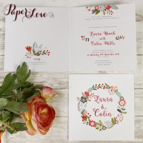 Zaproszenia+ślubne+kolekcja+rustykalna+w+Letterpress+for+You+na+DaWanda.com