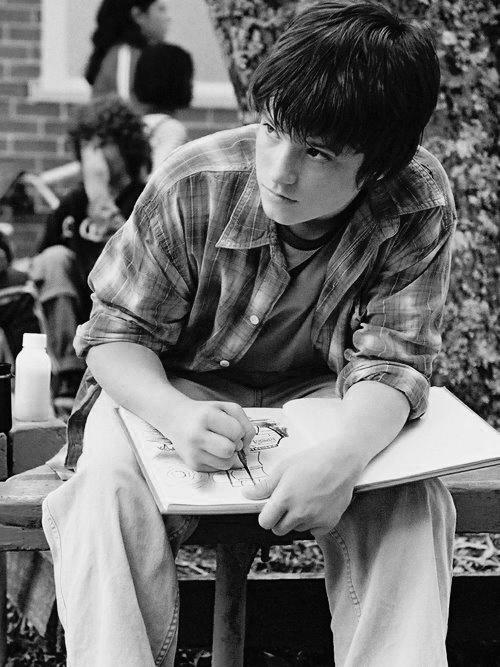 """Josh Hutcherson in """"Bridge to Terabithia"""" ... he was even cute back then."""