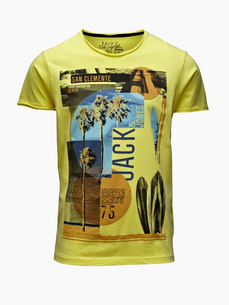 Jack Jones - Miami Tee, LIME LIGHT