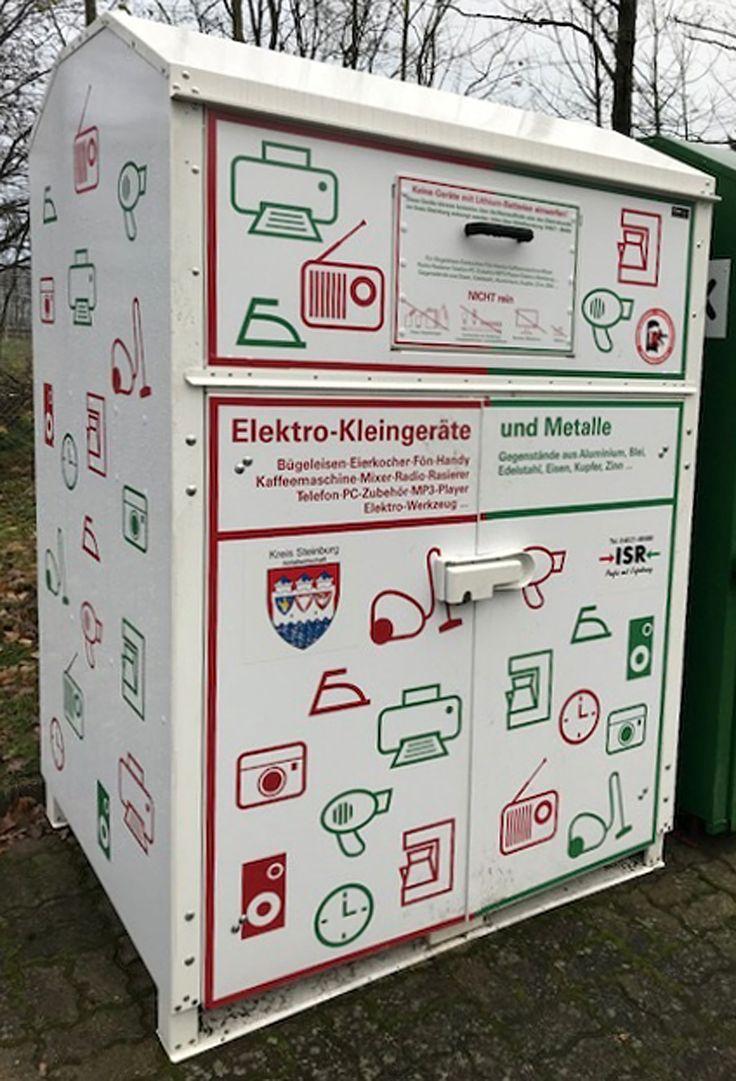 Sammelcontainer, Pilot, Pilotprojekt, Kreis Steinburg, Umwelt, Elektrogeräte, Kleingeräte, Sammelstelle, Recyclingm, Zeitung Horst, Zeitung Krempe