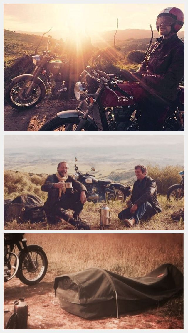 #Legendary Motorcycle Adventures in Andalusia with Wynnchester canvas bedroll #royalenfield #belstaff