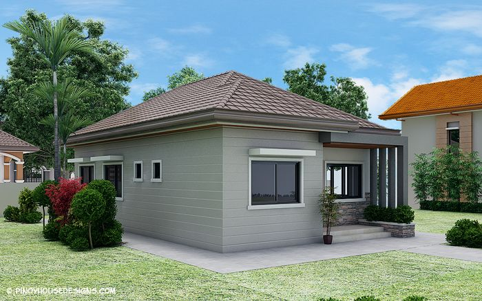 Ruben Model Is A Simple 3 Bedroom Bungalow House Design With Total Floor Area Of 82 0 Square Philippines House Design Bungalow House Design Simple House Design