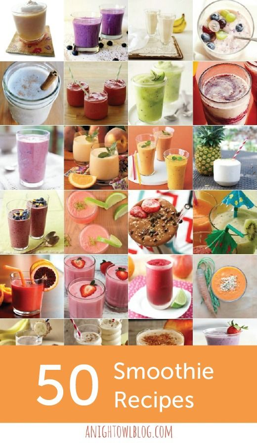 No matter what fruits are in season where you live, these 50 Smoothie Recipes have a tasty drink recipe for you.