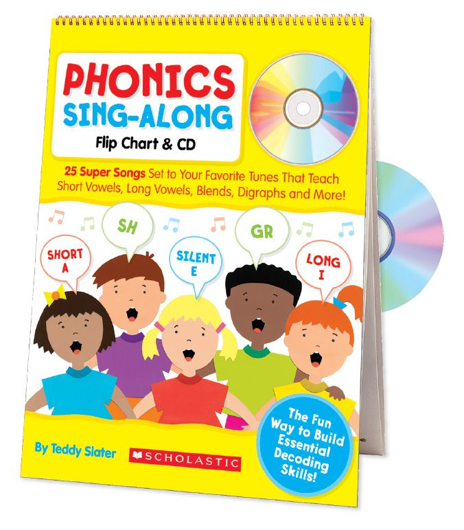 Students will have fun mastering phonics with this big flip chart of lively songs set to familiar tunes! Includes ready-to-go activities. Find the Phonics Sing-Along Flip Chart & CD in the Classroom Essentials Catalogue: OPUS 1954305 Page 112 See the pages here: http://scholastic.ca/clubs/cec/