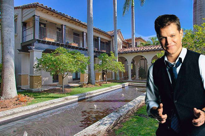 "Oscar-winning screenwriter and actor Matt Damon has listed his 12,700-square-foot, customized Miami Beach mansion for $20M. Mediterranean-style megamansion houses seven bedrooms, ten bathrooms, a home theater, and a master bathroom ""with a spalike bath and a private terrace overlooking the water."" There's also a two-bedroom guest house and a pool house overlooking Biscayne Bay.   #celebrityrealestate"