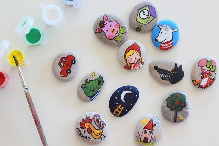 Contando cuentos con piedras | http://www.conbotasdeagua.com/mucho-divertido-contando-cuentos-con-piedras/