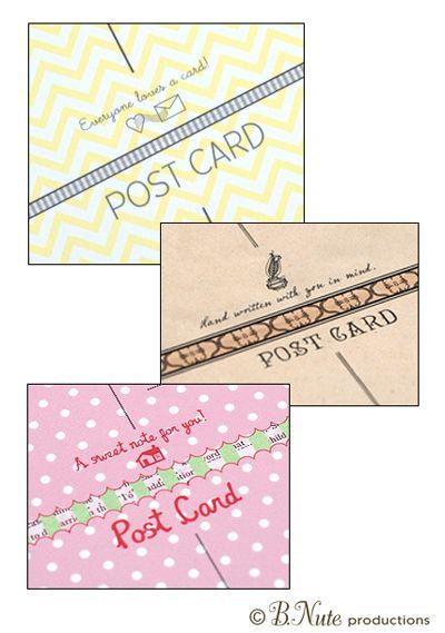 20+ beste ideeën over Printable postcards op Pinterest - printable postcard template free