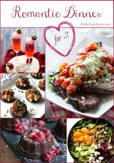 Romantic romantic dinner for two and cocktails on pinterest for Easy romantic meals to cook for him