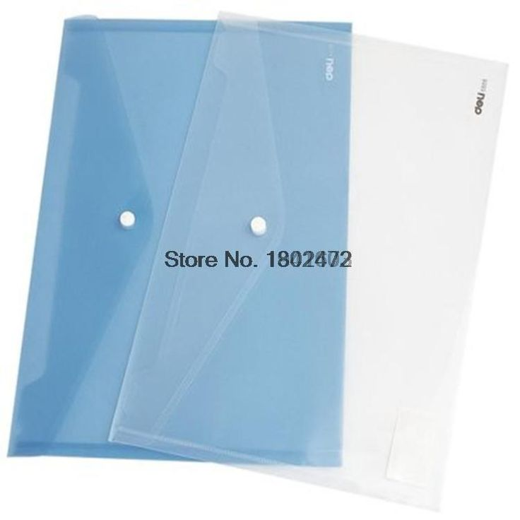 10 Pcs/Lot Deli 5505 A4 paper transparent plastic folder documents bag envelope paper bags for business& school filing products