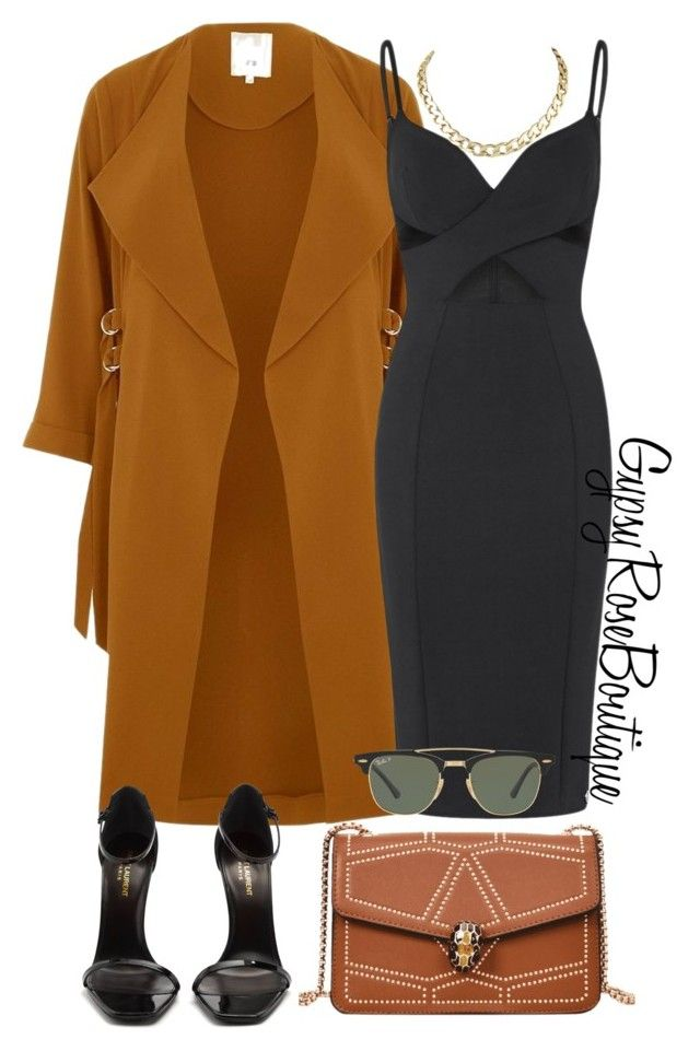 """#531"" by gypsyroseboutique on Polyvore featuring River Island, Aloura London, Yves Saint Laurent and Ray-Ban"