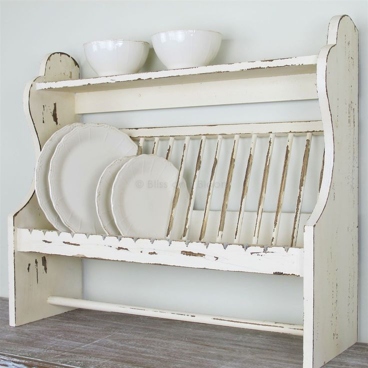 Wooden plate rack/shelf 			| 			Bliss and Bloom Ltd