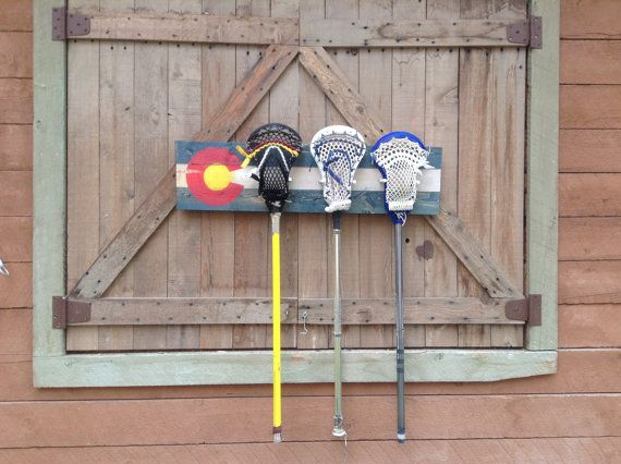 Colorado Flag Lacrosse Stick Coat Rack Made By