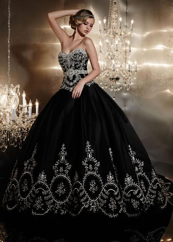Image result for black wedding dress