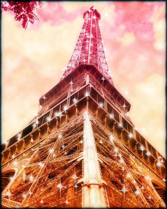 Large Paris Canvas Wall Art Eiffel Tower Canvas by LafayettePlace