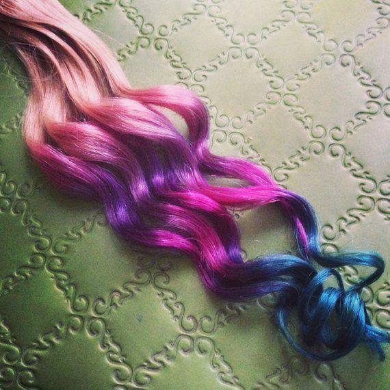 Handgemachte Ombre, Pastell Tie Dye Tipps, Echthaa…
