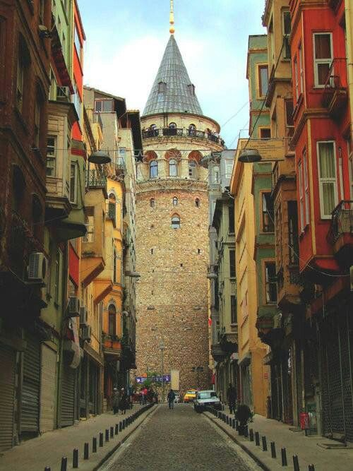 Istanbul  Galata tower  Medieval stone tower previously called flower of Christ