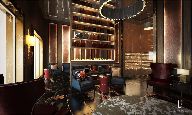 Lambart and Browne Interior Design – Photograph of our project in St Petersburg • Cigar Room • Games Room • Humidor • Modern • Contemporary • L&B