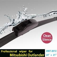"""[ 22% OFF ] Wiper Blades For Mitsubishi Outlander (2007-2012) 24""""+21"""" Fit Standard J Hook Wiper Arms Only Hy-002"""