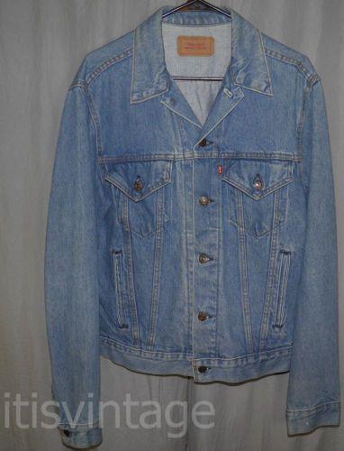 Vintage-Levi-039-s-506-Denim-Trucker-Jacket-Faded-Made-in-USA-4-Pocket-44L-Large