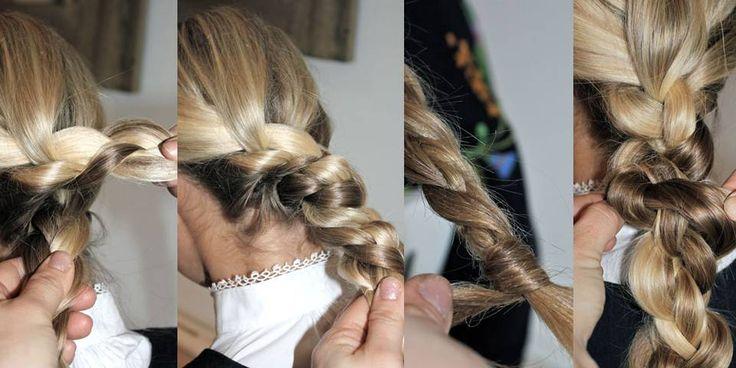 DOBBELFLETTE: Del håret i to, og lag to fletter. Tvinn de to flettene sammen til en flette og fest med hårstrikk. Avslutt med å snurre den ene fletteenden rundt hårstrikket og gjem enden inni den store fletten. Dra i fletten for å gjøre den større og mer rufsete. Produkttips: Bruk produkter som gir litt seighet,. Det gjør fletten lettere å forme og rufse. Utstyr: Kam, børste og tynne, lite synlige hårstrikk.