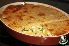 """Кефирный пирог за 5 минут Ингредиенты для """"Кефирный пирог за 5 минут"""": Мука — 200 г Кефир — 500 мл Яйцо — 5 шт Лук зеленый — 100 г Сыр твердый — 100 г Разрыхлитель теста — 1 ч. л."""