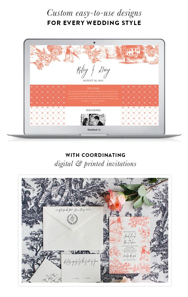 Build your own Riley & Grey wedding website today! http://www.stylemepretty.com/2016/01/07/riley-grey-wedding-websites-3/