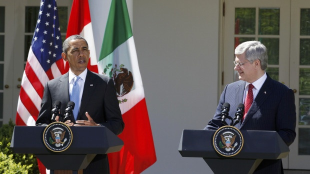 Looser border restrictions a top priority, Obama signals to Harper
