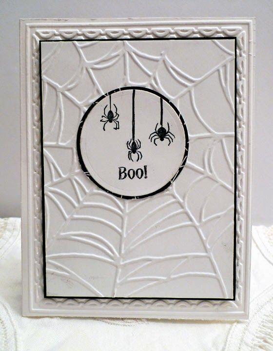 Handmade Halloween card Stampin' Up! spider web
