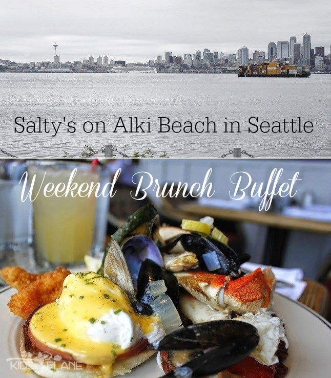 Salty's on Alki Beach Seattle - Best brunch buffet in the Seattle area. There is so much to choose from! From salads, to unlimited amounts of crab, shellfish, fish, and a pasta bar, omelet station, and breakfast items. When finished with all that, there is a chocolate foundation and plenty of desserts to go around. Plus the view of downtown Seattle in the distance is killer!
